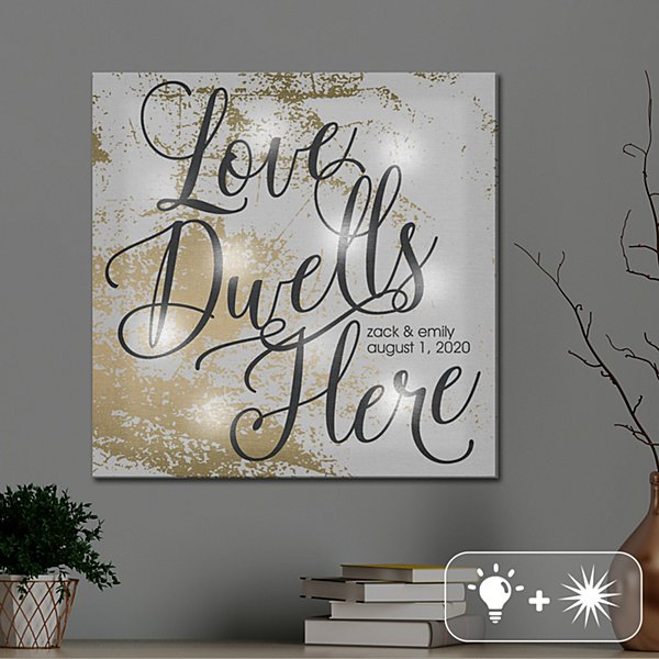 TwinkleBright® Love Dwells Here Canvas