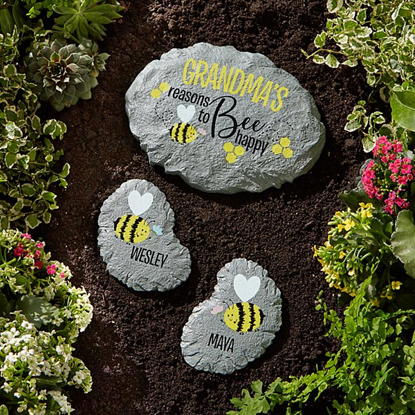 Reasons to Bee Happy Stepping Stone