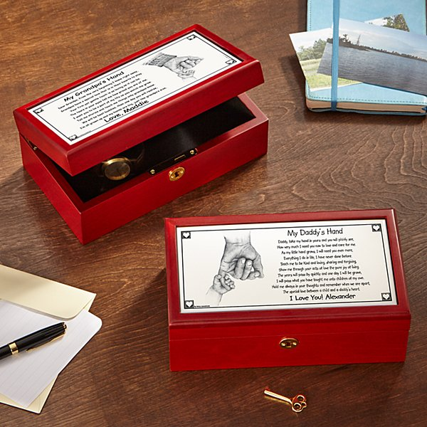 Daddy's Hand/Grandpa's Hand Keepsake Box