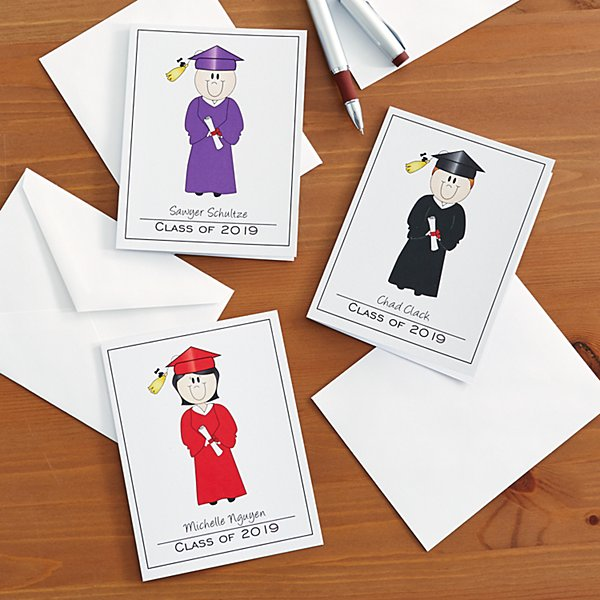 Family of Characters Graduation Note Cards