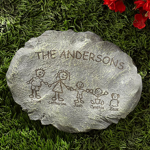 Family Cartoon Character Stepping Stone