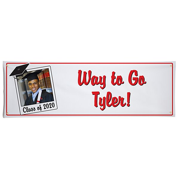 Graduation Signature Photo Banner - 6ft