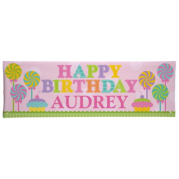 Birthday Sweets Banner - 6ft