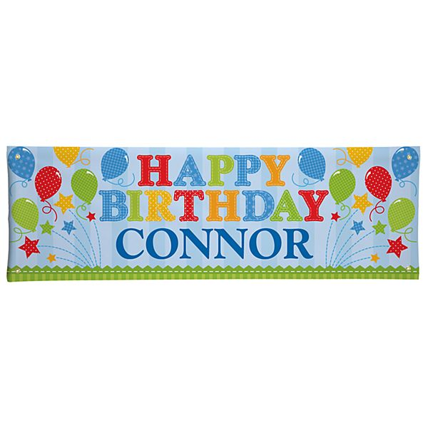 Fireworks Birthday Banner - 6ft