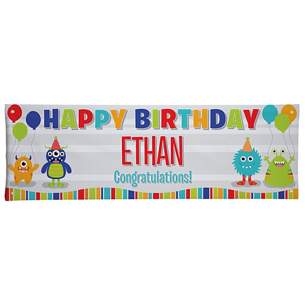 Party Monsters Birthday Banner - 6ft