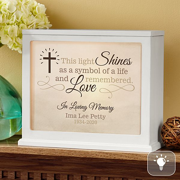 Your Light Shines Bright Memorial Accent Light