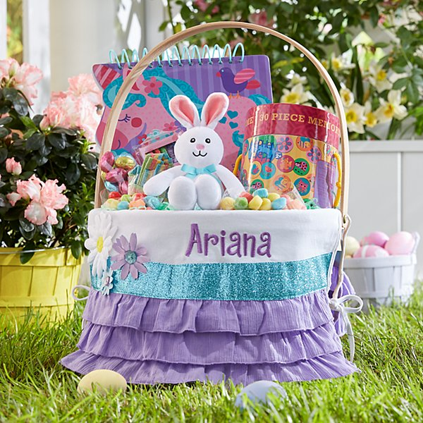 Colorful Daisy Round Wicker Basket