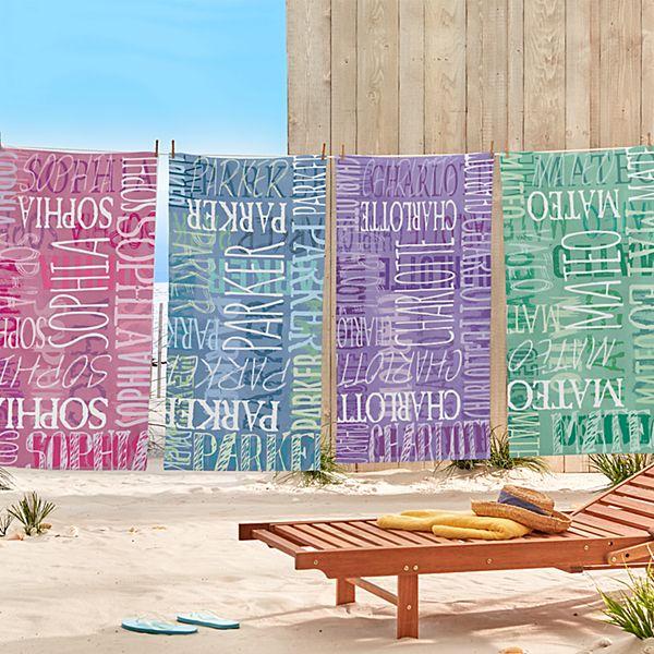Graffiti Name Beach Towel