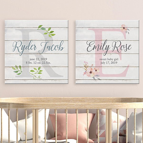 Elegant Baby Name Canvas