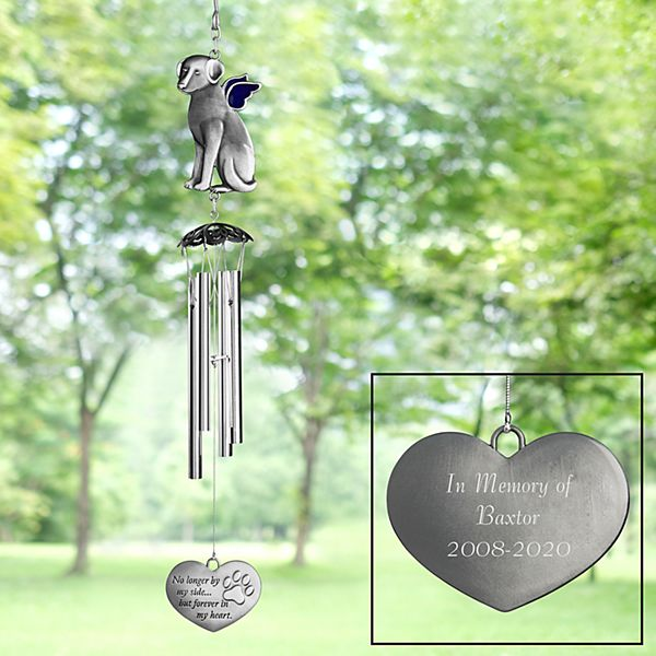 Paw Print On My Heart Wind Chime