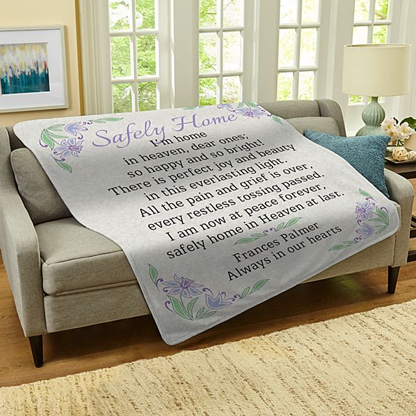 Safely Home Sympathy Blanket