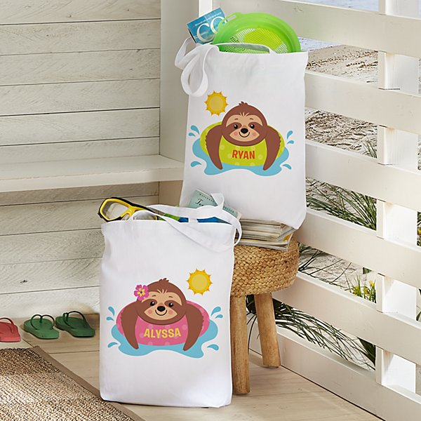 Sunning Sloths Tote Bag