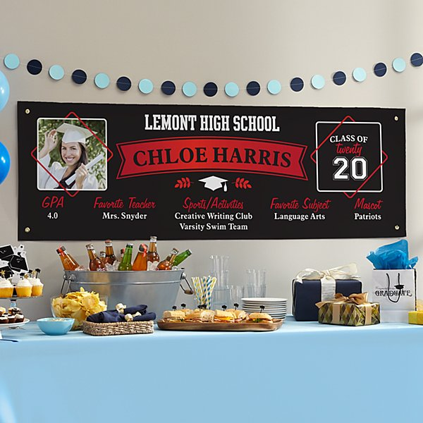 School Memories Graduation Photo Banner