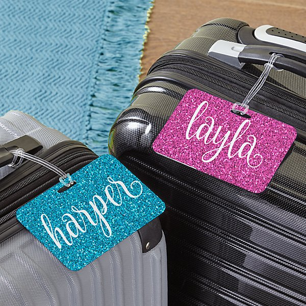 She Sparkles Luggage Tag