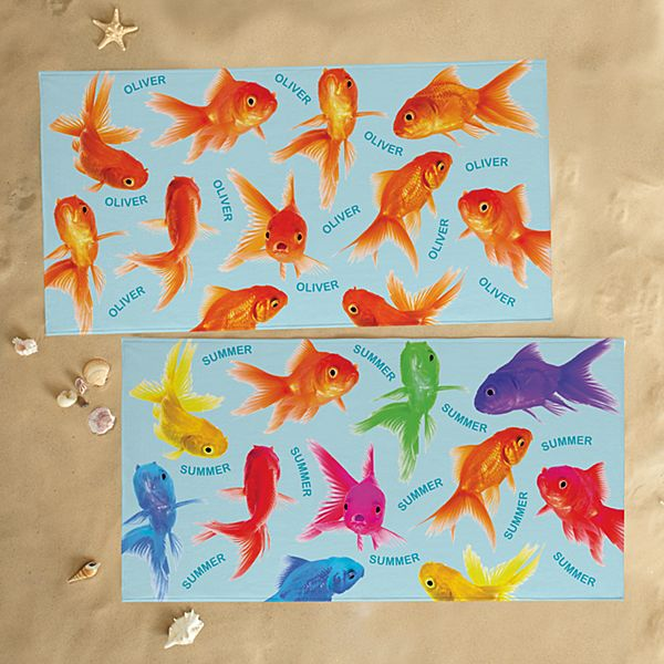 Swimming Fishies Beach Towel