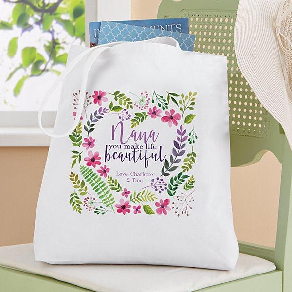 You Make Life Beautiful Tote Bag
