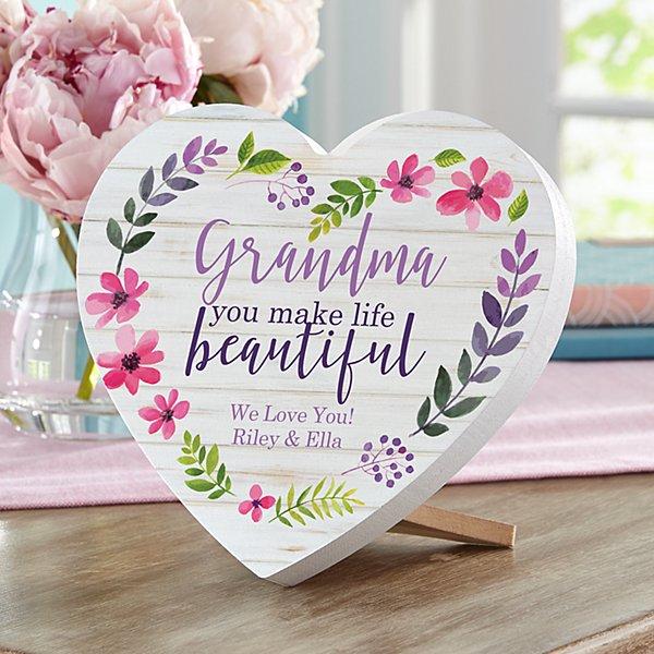 You Make Life Beautiful Mini Wood Heart
