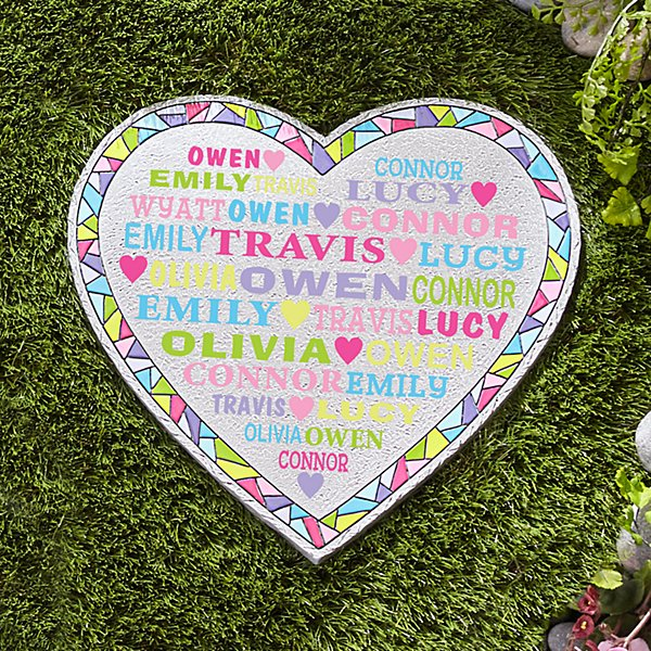 Heart Full of Love Mosaic Garden Stepping Stone