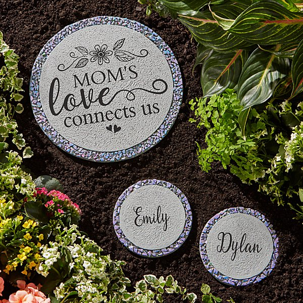 Her Love Connects Us Garden Stepping Stone