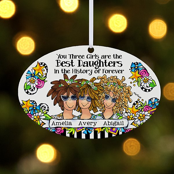 Best Daughter Ever Ornament by Suzy Toronto