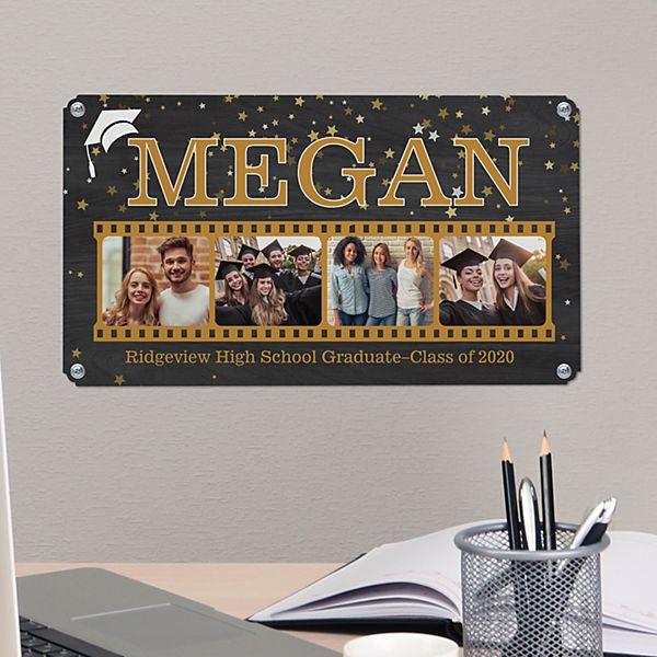Graduate Photo Memory Reel Metal Sign