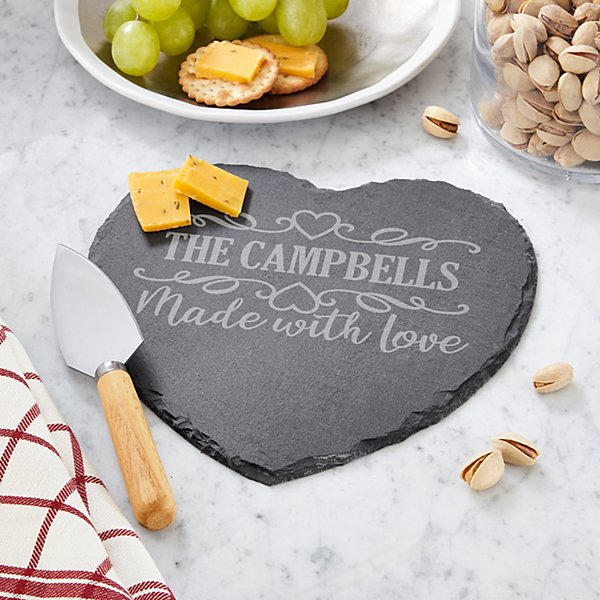 Made With Love Heart Slate Server