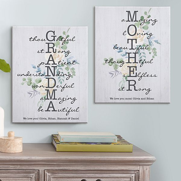 Amazing Mother & Grandma Canvas