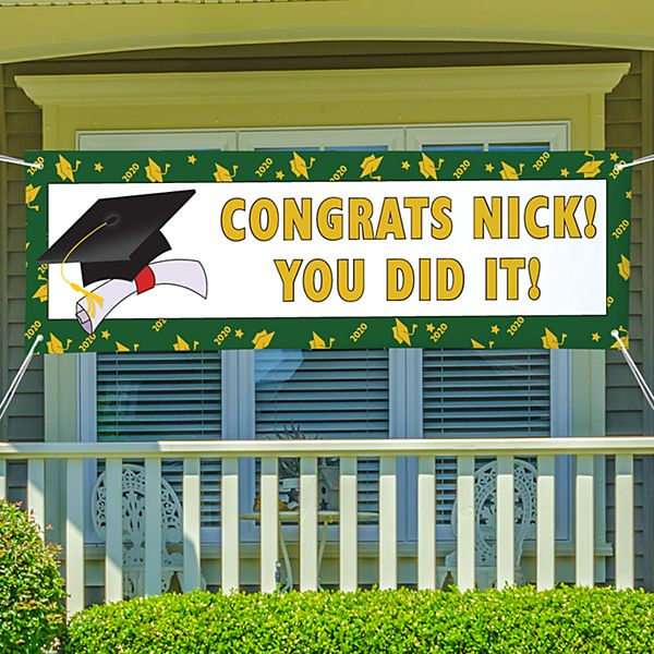 School Color Graduation Banner