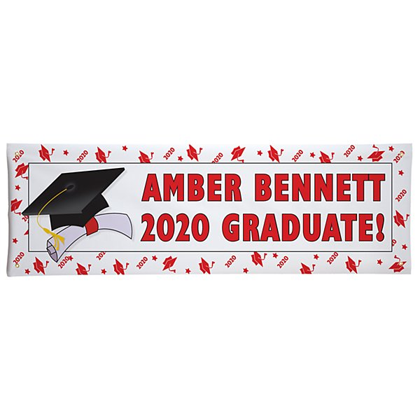 School Color Graduation Banner-6ft