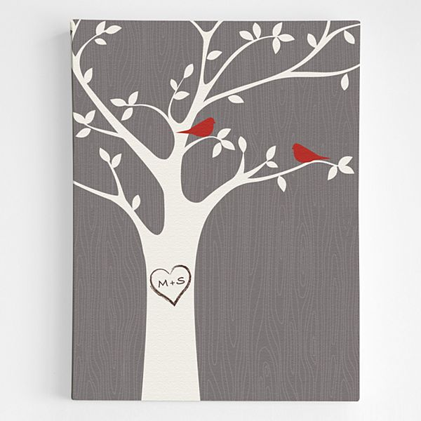 Tree Initials Wall Art
