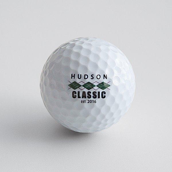 10 Piece Leather Golf Travel Set - Argyle