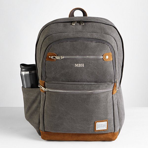 Canvas & Suede Anti-Theft Travel Backpack