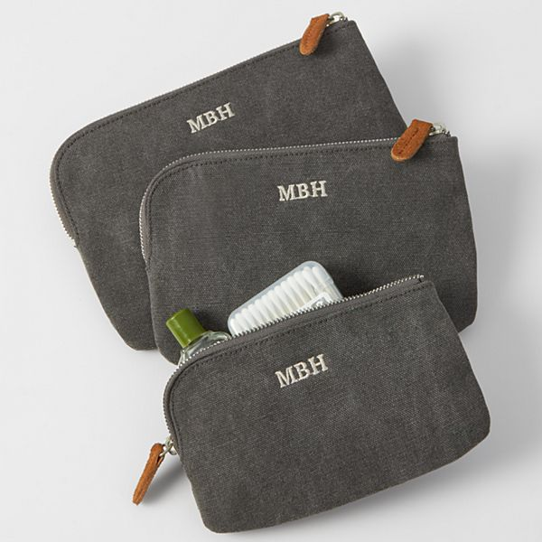 Canvas & Suede Travel Set