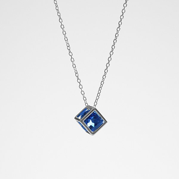 Anniversary Stone Necklace - Blue Sapphire