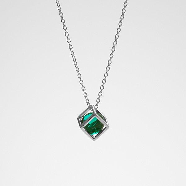 Anniversary Stone Necklace - Emerald