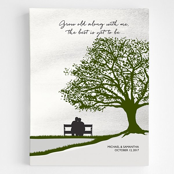 Grow Old With Me Canvas Art