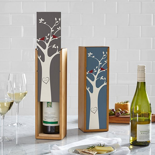 Tree Initials Wine Box