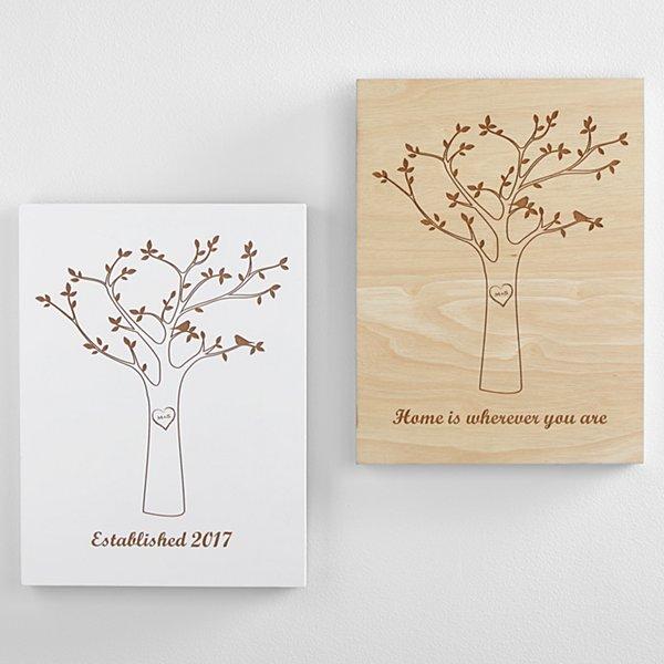 Tree Initials Wood Wall Art