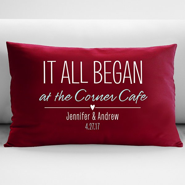 Where It All Began Throw Pillow