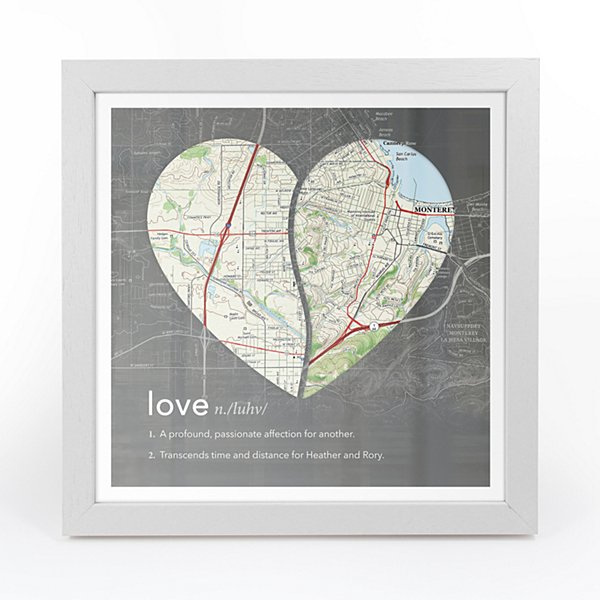 Definition of Love Map Wall Art