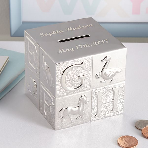 ABC Block Keepsake Bank