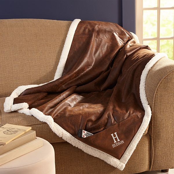 Monogrammed Cozy Throw