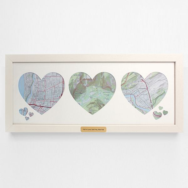 Our Family Memories Map Wall Art