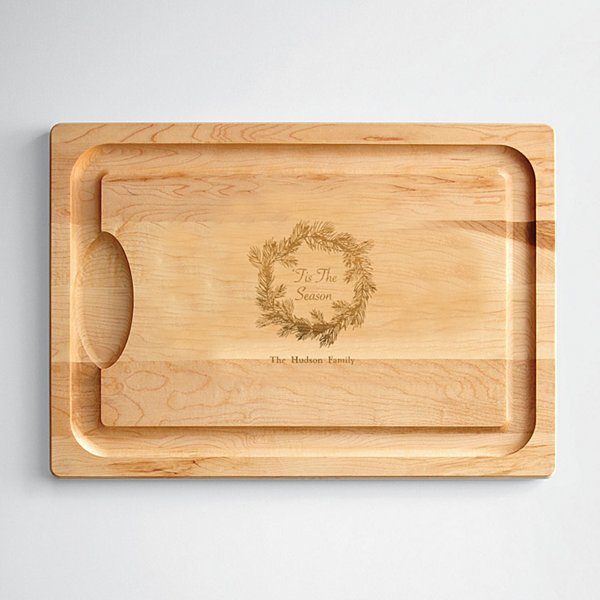 Holiday Wreath Cutting Board