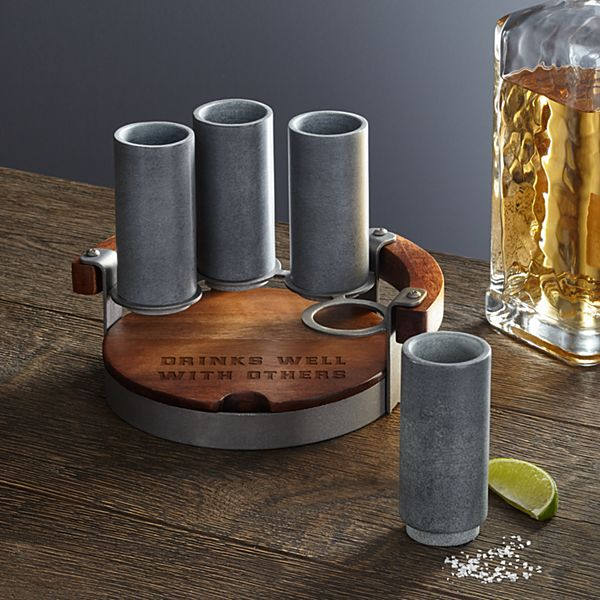 Soapstone Shooter Set + Holder
