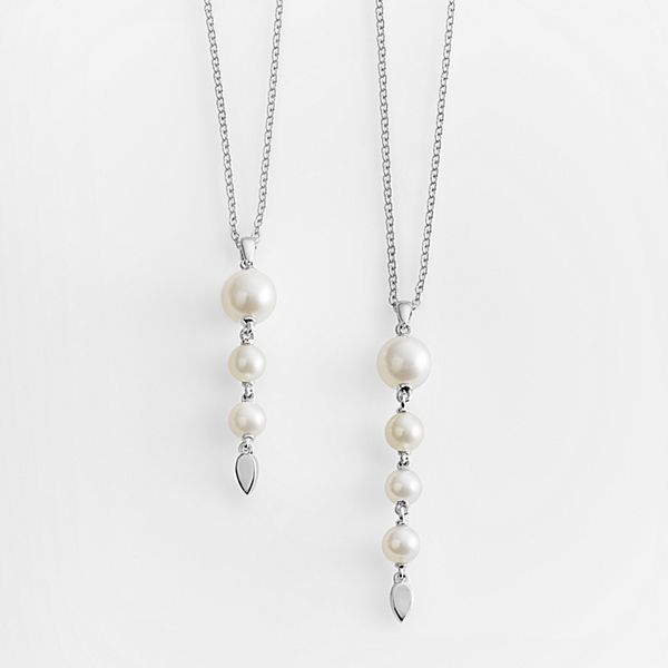 Motherhood Pearl Drop Necklace