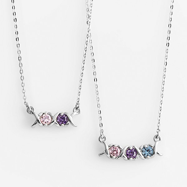 XO Birthstone Necklace