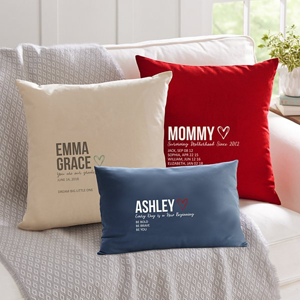 Typography Throw Pillow