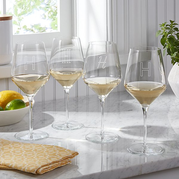 White Stemware Wine Glasses