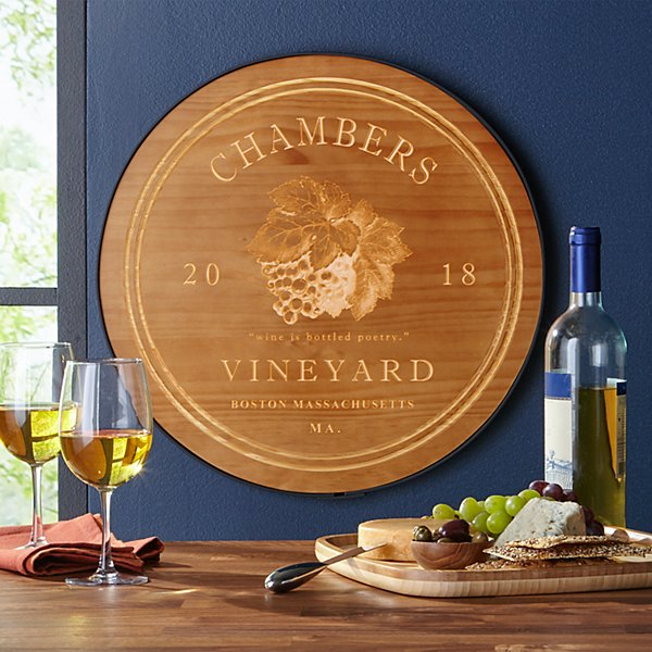 Vineyard Wine Cellar Sign